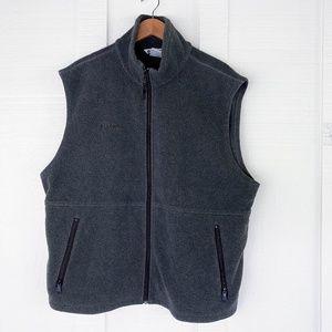 COLUMBIA Classic Fleece Vest Jacket Windbreaker XL